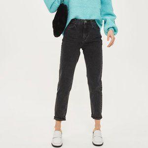 Bershka Black denim Mom jeans size 6 ASOS